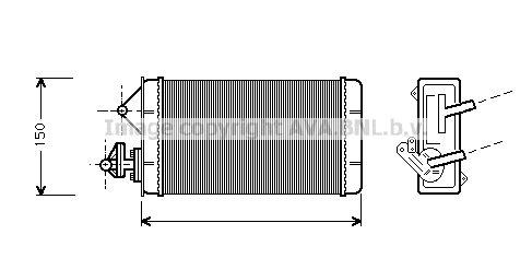 Chauffage AVA QUALITY COOLING FT6087 (X1)