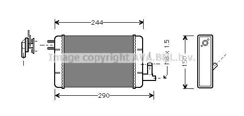 Radiateur de chauffage AVA QUALITY COOLING FT6091 (X1)