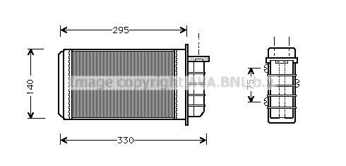 Radiateur de chauffage AVA QUALITY COOLING FT6183 (X1)
