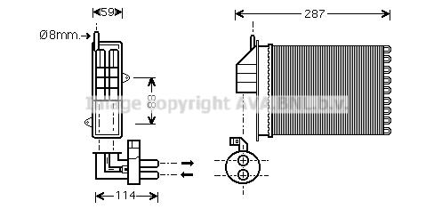 Radiateur de chauffage AVA QUALITY COOLING FT6259 (X1)
