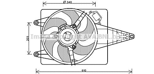 Ventilateur de radiateur AVA QUALITY COOLING FT7546 (X1)
