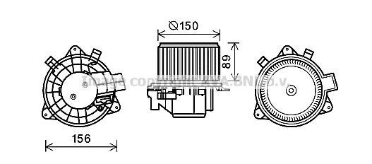 Moteur de ventilateur de chauffage AVA QUALITY COOLING FT8417 (X1)