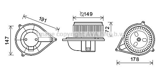 Moteur de ventilateur de chauffage AVA QUALITY COOLING FT8426 (X1)