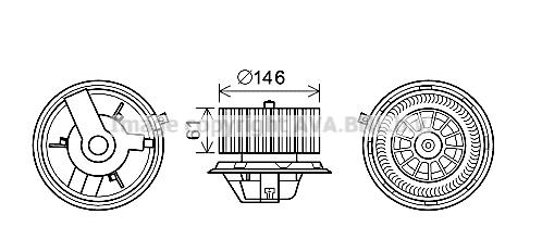 Moteur de ventilateur de chauffage AVA QUALITY COOLING FT8428 (X1)
