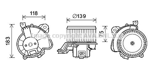 Moteur de ventilateur de chauffage AVA QUALITY COOLING FT8431 (X1)