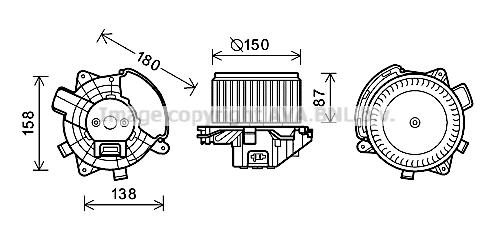 Moteur de ventilateur de chauffage AVA QUALITY COOLING FT8440 (X1)