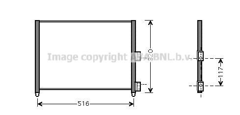 Condenseur / Radiateur de climatisation AVA QUALITY COOLING FTA5303 (X1)