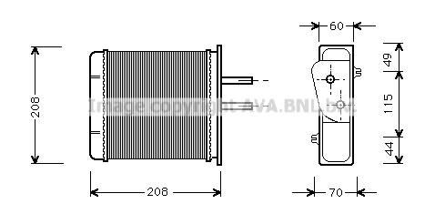 Radiateur de chauffage AVA QUALITY COOLING FTA6150 (X1)