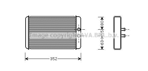 Radiateur de chauffage AVA QUALITY COOLING FTA6265 (X1)