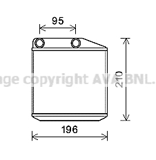 Radiateur de chauffage AVA QUALITY COOLING FTA6313 (X1)