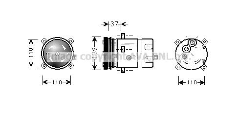 Compresseur AVA QUALITY COOLING FTAK198 (X1)