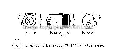 Compresseur AVA QUALITY COOLING FTK330 (X1)