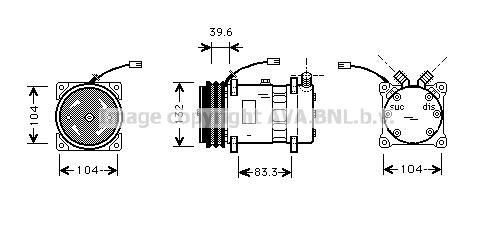 Compresseur AVA QUALITY COOLING FTK372 (X1)