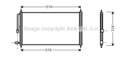 Condenseur / Radiateur de climatisation AVA QUALITY COOLING HD5083 (X1)