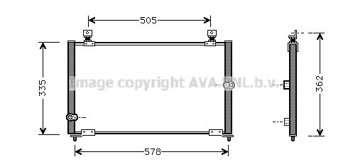 Condenseur / Radiateur de climatisation AVA QUALITY COOLING HD5108 (X1)