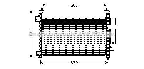 Condenseur / Radiateur de climatisation AVA QUALITY COOLING HD5213D (X1)