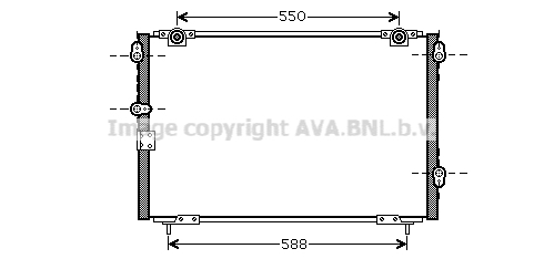 Condenseur / Radiateur de climatisation AVA QUALITY COOLING HD5221 (X1)