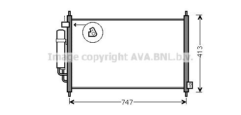 Condenseur / Radiateur de climatisation AVA QUALITY COOLING HD5234D (X1)