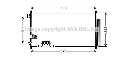 Condenseur / Radiateur de climatisation AVA QUALITY COOLING HDA5239D (X1)
