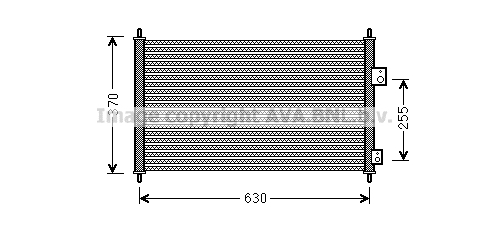 Condenseur / Radiateur de climatisation AVA QUALITY COOLING HDA5261 (X1)