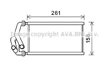Radiateur de chauffage AVA QUALITY COOLING HDA6294 (X1)