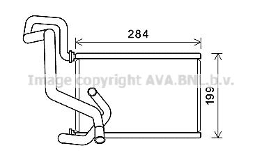 Radiateur de chauffage AVA QUALITY COOLING HDA6295 (X1)