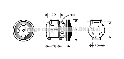 Compresseur AVA QUALITY COOLING HDAK019 (X1)