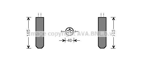 Bouteille deshydratante AVA QUALITY COOLING HDD230 (X1)