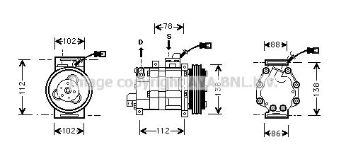 Compresseur AVA QUALITY COOLING HDK008 (X1)