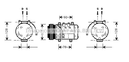 Compresseur AVA QUALITY COOLING HDK052 (X1)