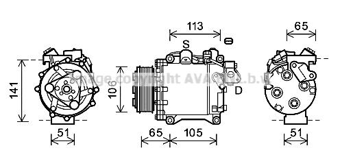 Compresseur AVA QUALITY COOLING HDK263 (X1)