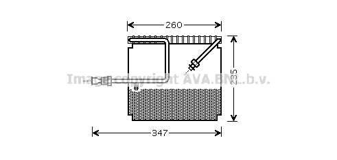 Evaporateur AVA QUALITY COOLING HDV199 (X1)