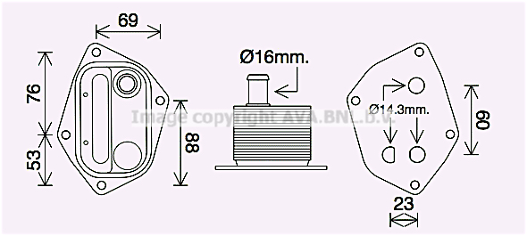 Radiateur huile AVA QUALITY COOLING HY3459 (X1)