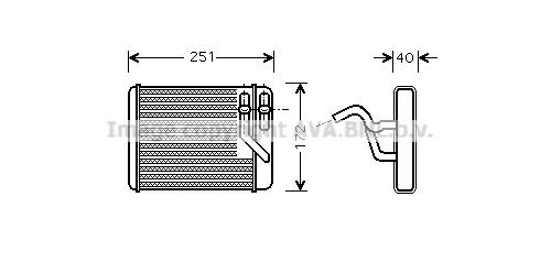 Radiateur de chauffage AVA QUALITY COOLING HY6140 (X1)