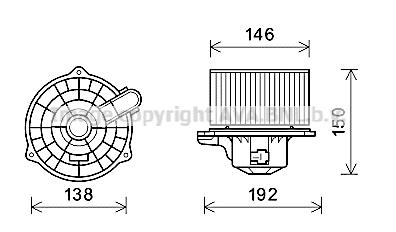 Moteur de ventilateur de chauffage AVA QUALITY COOLING HY7554 (X1)
