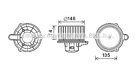 Moteur de ventilateur de chauffage AVA QUALITY COOLING HY8350 (X1)