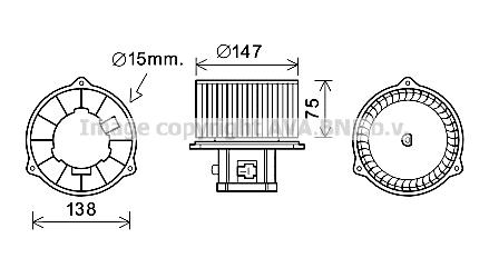 Moteur de ventilateur de chauffage AVA QUALITY COOLING HY8353 (X1)