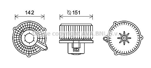 Moteur de ventilateur de chauffage AVA QUALITY COOLING HY8399 (X1)