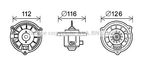 Moteur de ventilateur de chauffage AVA QUALITY COOLING HY8409 (X1)