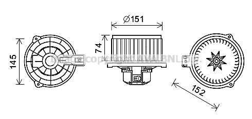 Moteur de ventilateur de chauffage AVA QUALITY COOLING HY8429 (X1)