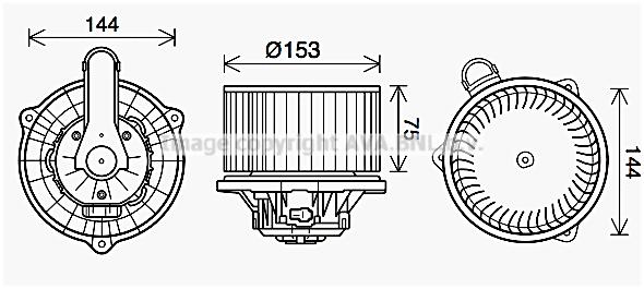 Moteur de ventilateur de chauffage AVA QUALITY COOLING HY8450 (X1)