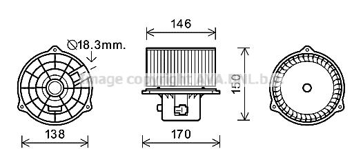 Moteur de ventilateur de chauffage AVA QUALITY COOLING HY8556 (X1)
