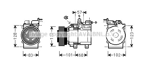 Compresseur AVA QUALITY COOLING HYK123 (X1)