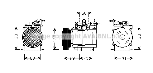 Compresseur AVA QUALITY COOLING HYK197 (X1)