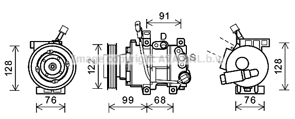 Compresseur AVA QUALITY COOLING HYK296 (X1)