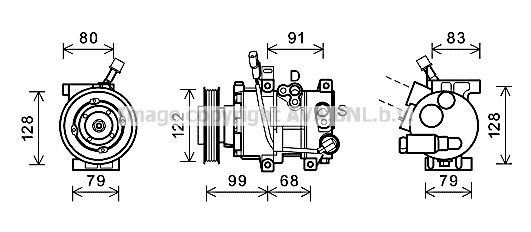Compresseur AVA QUALITY COOLING HYK297 (X1)