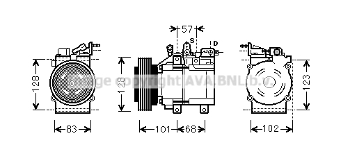 Compresseur AVA QUALITY COOLING HYK324 (X1)