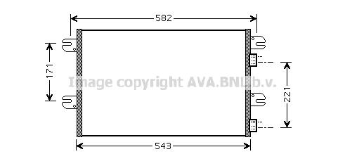 Condenseur / Radiateur de climatisation AVA QUALITY COOLING IV5063 (X1)