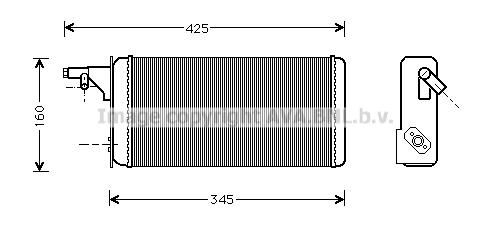 Radiateur de chauffage AVA QUALITY COOLING IVA6019 (X1)