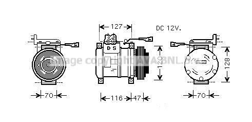 Compresseur AVA QUALITY COOLING IVK077 (X1)